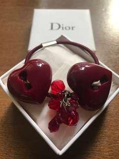 Christian Dior 紅色心心紮頭髮橡筋