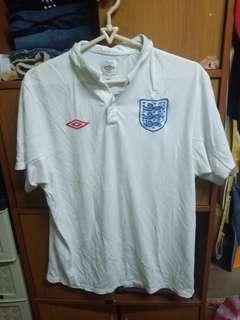 White Umbro Sports Polo Shirt