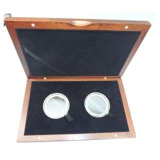 高襠實木 雙頭金幣33mm-38mm 收納盒