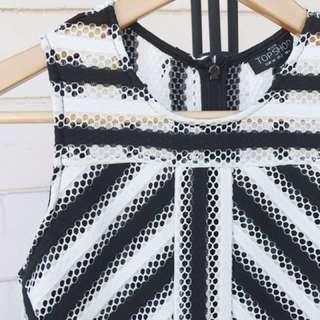 Topshop Black & White Dress