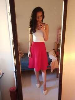 BNWT Forever 21 Red midi skirt
