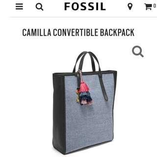 FOSSIL CAMILLA CONVERTIBLE BAG / TOTE / BACKPACK / DOCUMENTS BAG