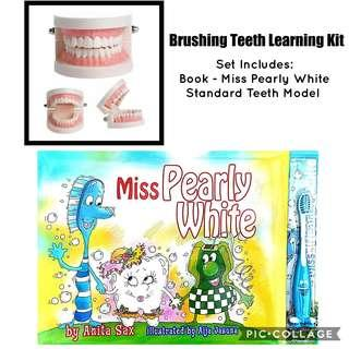 *Brand New* Anita Sax - Miss Pearly White with Dental Standard Teeth Model Educational Tools for Homeschooling (Great for Adaptive Skills ) Tot / Home School Teaching Learning Resources Standard Tooth