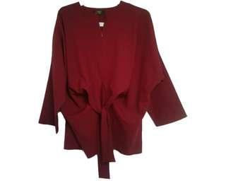 DNK - Red Loose Blouse [Big Size]