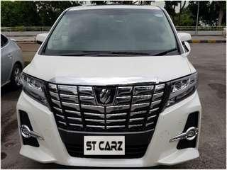 TOYOTA ALPHARD 2.5S HIGH SPEC FOR RENT!