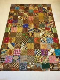 Batik patchwork blanket (S)