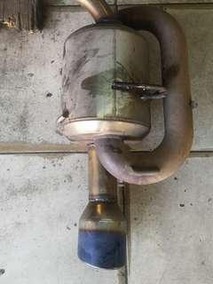 Twin loop exhaust 2.5 inch