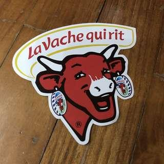 Pop Culture Luggage Laptop Misc Sticker Food Snacks La Vache Qui Rit Cow Brand Cheese Moo Logo
