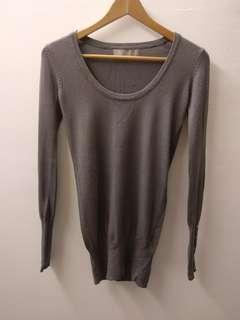 Zara woman Stretchy Boat Neck Tapered Long sleeve Sweater #50TXT Size small