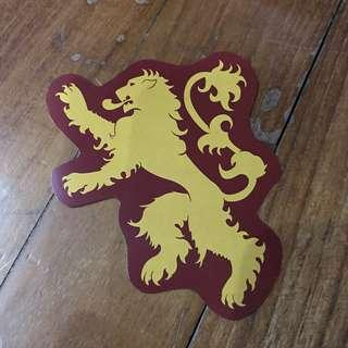 Pop Culture Luggage Laptop Misc Sticker HBO Game Of Thrones GOT House Lannister Lion Logo Emblem