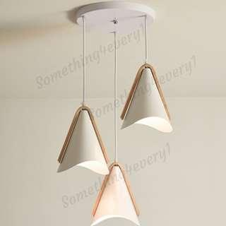 LED Pendant Light - Cone with Wood