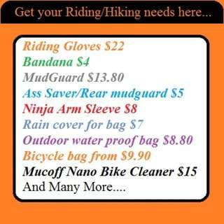 Motor Gloves $22 (Motor Cycle/ MTB) with Touch screen compatible finger patch
