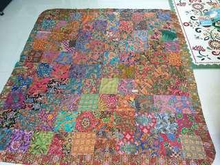 Batik patchwork blanket queen size