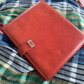 Vintage Buxton leather document notebook