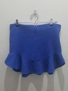 ZARA Blue Mini Skirt - EUR L USA L MEX 30