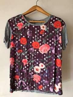 🚚 Zara Floral Shirt