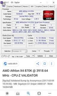AMD CPU X4 870K 3.9GHZ-4.1GHZ