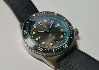 Zelos Mako V2 500m Diver Steel Ocean Teal - 40mm, Swiss Sellita SW200