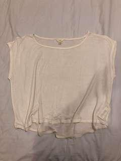 FOREVER 21 | loose white cotton top