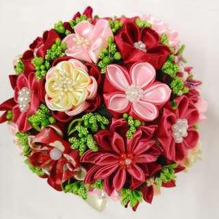 Handmade Japanese Fabric Flower Bouquet (Pre-order) #MakeSpaceForLove
