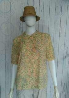 YELLOW FLOWERY BLOUSE
