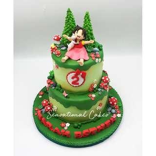 Heidi little girl garden theme 3d customized cake #singaporecake