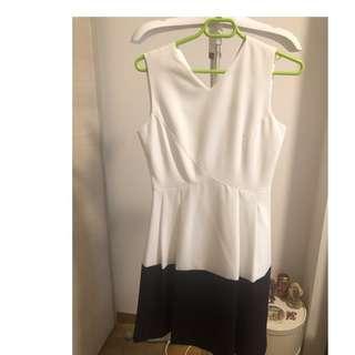G2000 White-Black Office/Casual Dress