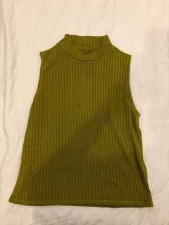 H&M | moss green top
