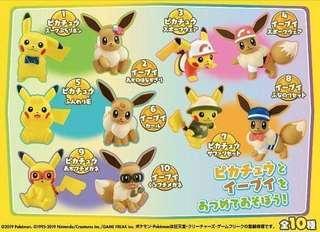Pokemon Let's Go 比卡超 / 伊貝 mini figure