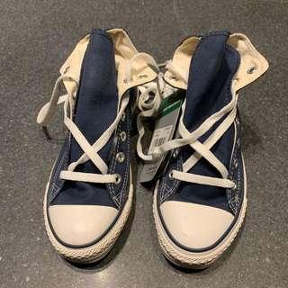 🚚 Converse高筒全新藍色球鞋