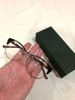 Glasense 琥珀色金邊半框眼鏡