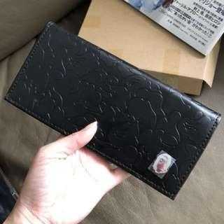 Bape long leather wallet