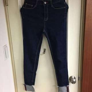 🚚 正韓原色反折小腳牛仔褲 #半價衣服市集