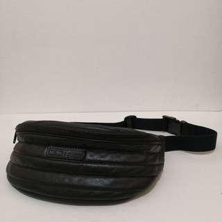 Pic-up Quilted Genuine Leather Belt / Waist / Bum Bag / Fanny Pack