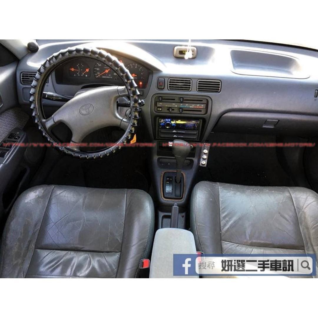 1998年 TERCEL 特雪兒 教練神車 開不壞 白色 底盤無異音 冷氣也很冷 車在桃園
