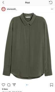 H&M shirt / kemeja h&m / Army shirt Original!