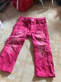 Pink soft jean 3y-4y