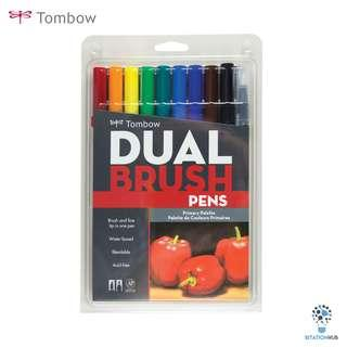 Tombow Dual Brush Pens | Primary Palette | Pack of 10 Pens [CK-56167]