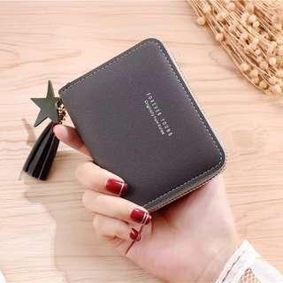 Ready stock - Women Cute Korean Short Mini Tassel Wallet