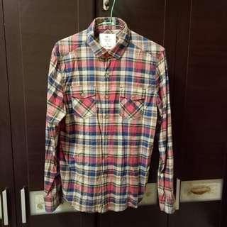 🚚 NET男生100%棉格子襯衫M號,修身剪裁設計,稀有顏色