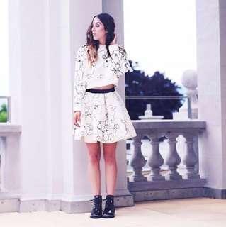 [BNWT H&M] Poodle Scuba Skater Skirt.
