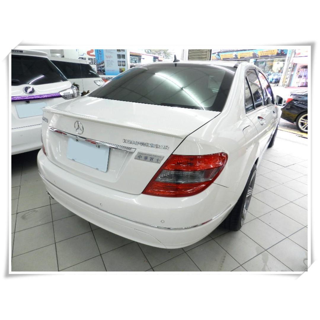 2008年 賓士 BENZ C200 1800CC 白色 有天窗 車在桃園 C250 C300 可保固