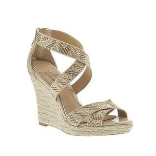 Badgley Mischka Cream Wedge