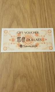 $50 Takashimaya Voucher