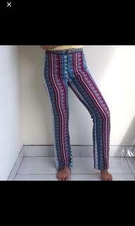 Boho pants / tribal pants / cutbray pants