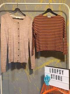 Crop Top & h&m cardigan