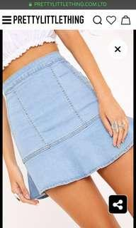 Grill denim skirt