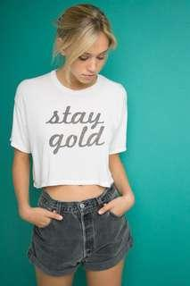 🚚 Brandy Melville stay gold tee