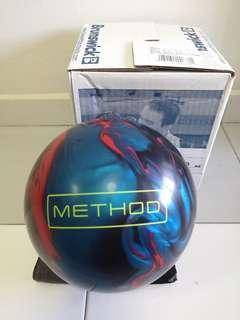Undrilled 14lbs Brunswick Method Hybrid Bowling Ball