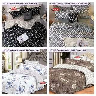 HIGHLY POPULAR SMOOTH FITTED BEDSHEET QUILT COVER SET